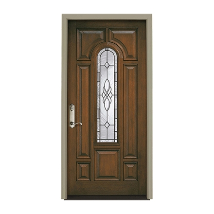 Architect Series Center Arch Light Entry Door with Glass